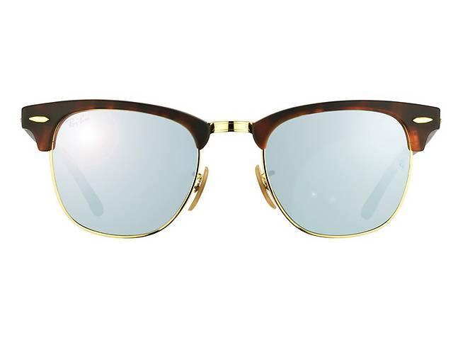 купить бу Солнцезащитные очки Ray-Ban Clubmaster Черно-голубой (RB3016  1145 30 d386af301c8e3