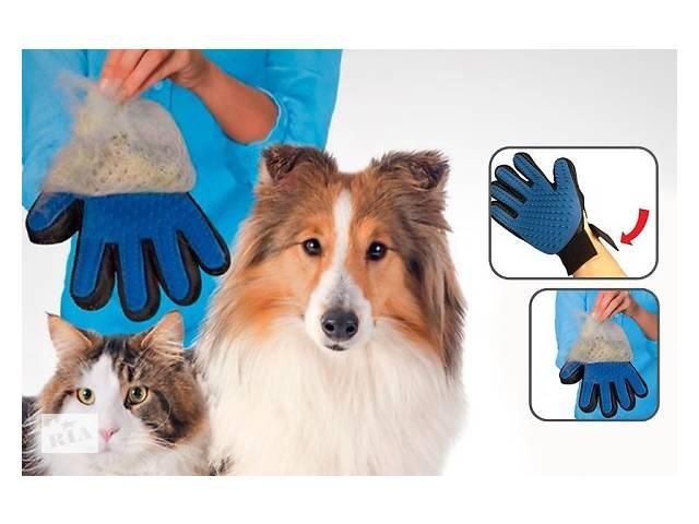 True Touch-рукавичка для вичісування шерсті тварин ОРИГІНАЛ- объявление о продаже  в Миколаєві