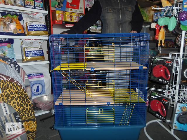 бу Вольєр клітка для тхора шиншил дегу щурів 80х45х107һ см 3-рівня в Києві