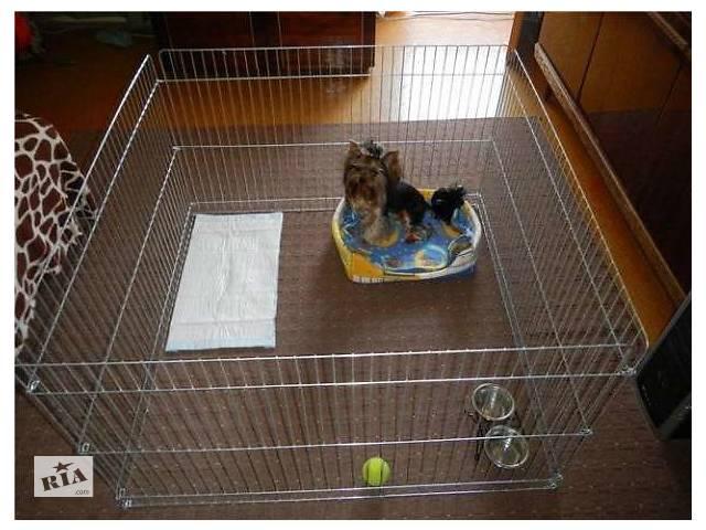 продам Ясли барьер манеж клетка для котят щенков собак 100х100х60 (аренда) приучение к лотку бу в Киеве