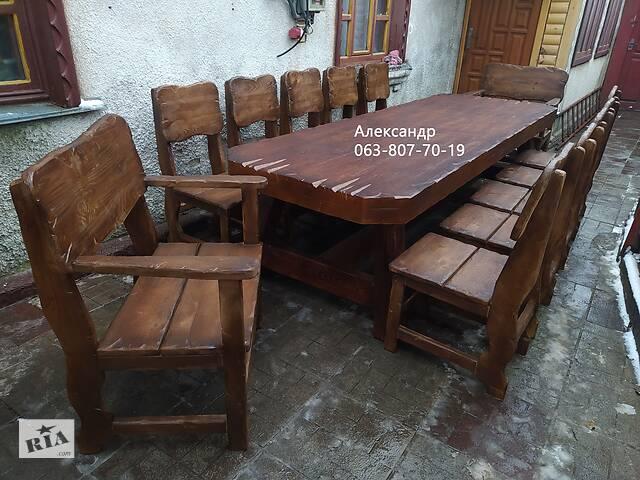 купить бу 3-Х Метровый комплект мебели Под Старину ( стол, стулья, кресла ) в Житомире