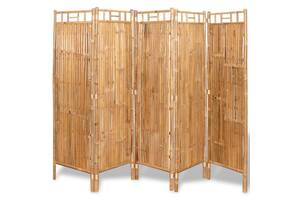 5-панельна бамбукова ширма, 200х160 см 243716
