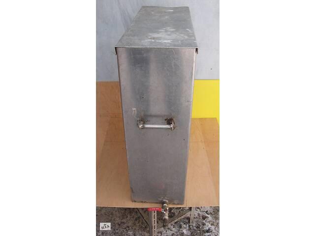 Бак прямоугольный, нержавейка, крышка, кран для отбора воды, 125л.