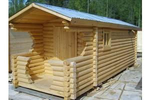Баня деревянная мобильная 6х2,35 Деревянная баня из дикого сруба