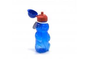Бутылочка для воды Мишка с пипеткой, 500 мл (синяя) 036