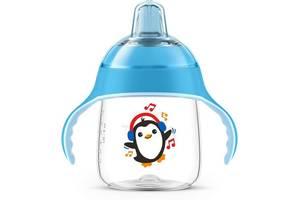 Чашка-непроливайка с носиком Avent 260мл 12 мес+ голубая (SCF747/02)