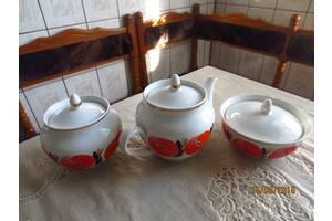 Чайные наборы с позолотой советские новые