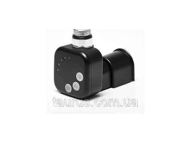 купить бу Чёрный ТЭН HeatQ MS black квадратный: регулятор 30-60C + таймер 2 ч. (2 режима) +маскировка провода +LED в Смілі