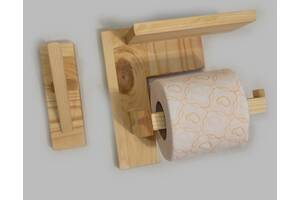 Тримач для туалетного паперу з полицею і вішалкою для рушника