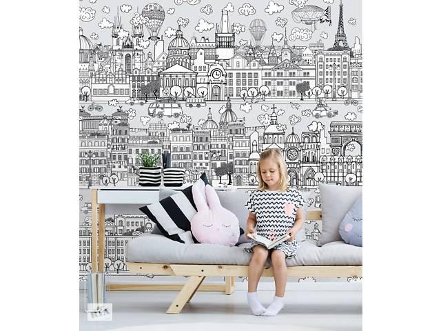 продам Детские обои в комнату Город детей Kid City 306 см х 280 см бу в Киеве