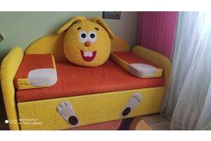 Детский Диван-кровать КРОШ из натурального дерева с регулировкой по довжині