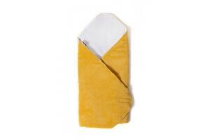Детский конверт - плед для новорожденных и малышей до 6 месяцев Twins Velvet, 80x80 см., желтый