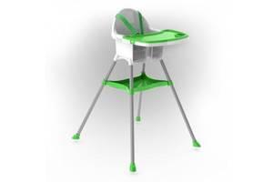 Детский пластиковый стульчик для кормления Doloni Toys для детей от 6 месяцев (до 15 кг), зеленый