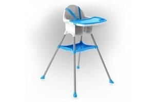 Детский пластиковый стульчик для кормления Doloni Toys для детей от 6 месяцев (до 15 кг), голубой