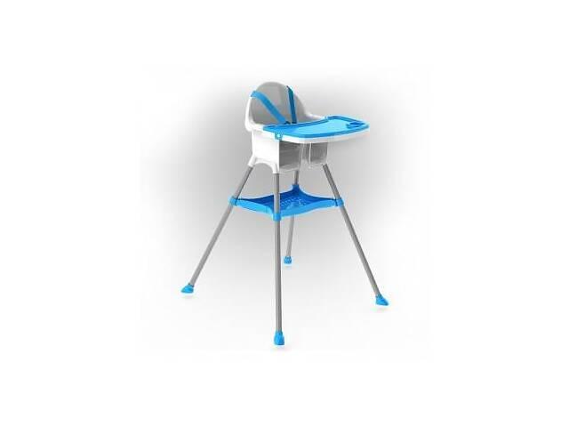 бу Детский пластиковый стульчик для кормления Doloni Toys для детей от 6 месяцев (до 15 кг), голубой в Києві