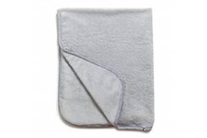 Детский велюровый плед для кроватки Twins Звездочки 80х104 см, гипоаллергенный, серый. Полезные подарки малыша