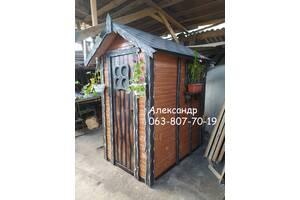 ДУШЕВАЯ для дачи ( дачный душ из дерева, деревянный туалет )
