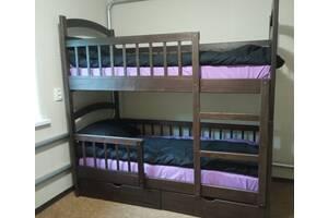 Двух& # 039; ярусная кровать из дерева Карина Люкс Усиленное