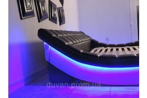 Двуспальная кровать с подсветкой