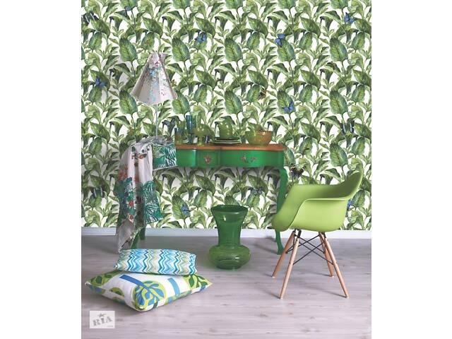 продам Обои на стену флизелиновые домашние растения Зеленый лист дизайнерские Green Leaves 150 см х 150 см бу в Киеве
