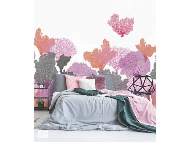 купить бу Флизелиновые еко обои на стену в спальню Риф кораловый Coral 465 см х 280 см в Киеве