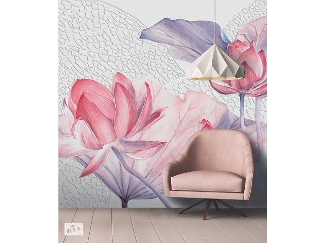 бу Обои на стену в спальню флизелиновые дизайнерские Цветок лотоса Lotus flowers 310 см х 280 см в Киеве