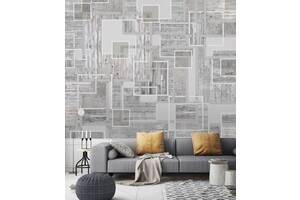 Обои 3Д в спальню дизайнерские Декор и Бетон Wood & Concrete в стиле Лофт 250 см х 155 см