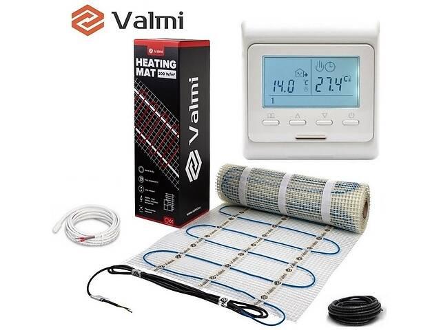 продам Електрична тепла підлога Valmi Mat 4 м² /800Ват/200Вт/м² нагрівальний мат під плитку з терморегулятором E 51 бу в Києві