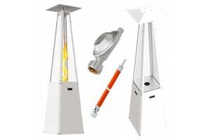 Газовий обігрівач Umbrella 3,9 - 12 kW вуличний, для саду, білий