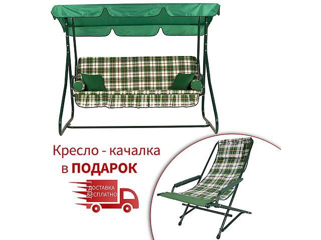 бу Садовый уличный раскладной 3х местный диван качель кровать Vitan / Витан Графиня бязь в Киеве