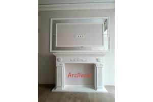каминный портал, гипсовый декоративный камин