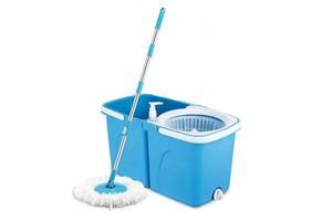 Комплект для уборки Spin MOP 360 Турбо Швабра с Ведром Blue