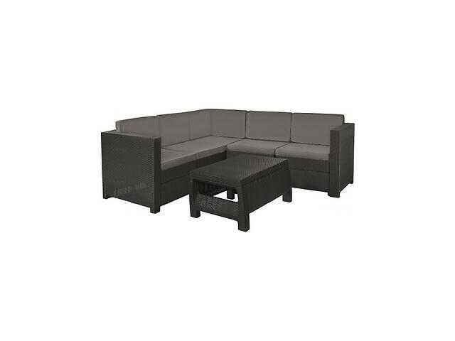 Комплект набор мебели для сада Keter Provence Set из искуственного ротанга и пластика (диван + стол) серый- объявление о продаже  в Киеве