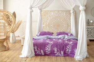 Комплект постільної білизни Prestige Silver Японський захід фіолетовий двоспальний SKL29-250681