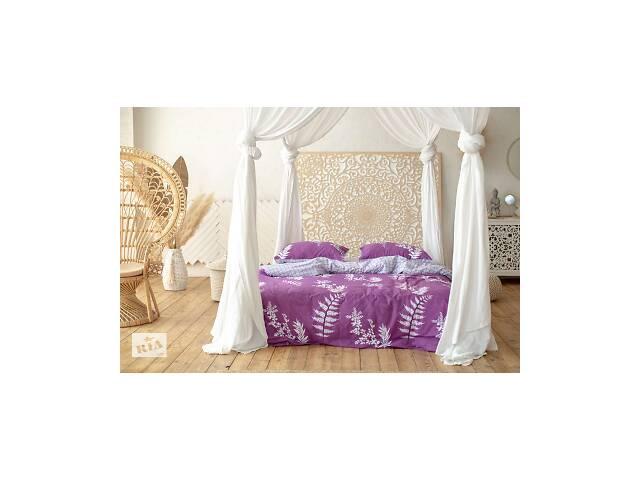 продам Комплект постельного белья Prestige Silver Японский закат фиолетовый двуспальный SKL29-250681 бу в Харкові