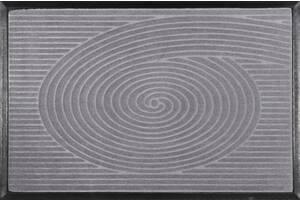 Килимок придверний Relana MX Spiral 60х90 см прямокутний сірий (6192)