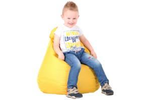 Кресло-груша детская Желтая