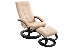 Крісло з підставкою для ніг 248470 vidaXL замша в кольорах