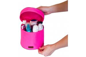 Круглый органайзер для косметики (Розовый)