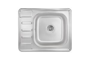 Кухонна мийка Lidz 6350 0,8 мм Micro Decor (LIDZ6350MDEC)