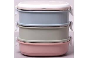 Ланч-бокс Kamille Food Box 3 емкости по 700 мл 20х14.5х18.5 см (psg_KM-2126)