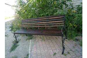 """Лавочка садовая уличная """"Ковка"""" (скамейка для беседки, для дома, для дачи)"""