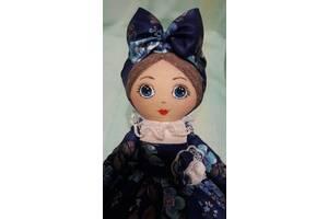 Кукла-грелка на чайник для заваривания ручной работы в васильковом сарафане - это лучший подарок