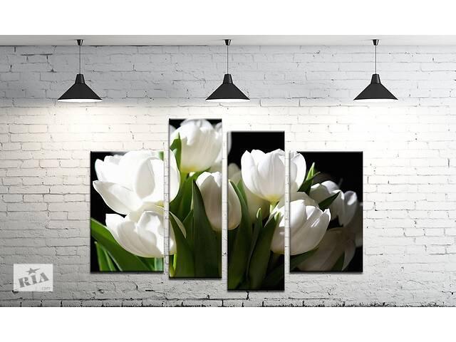 купить бу Модульна картина на полотні ProfART SM4-247 120 х 80 см Тюльпан (hub_WGHW22463) в Одесі