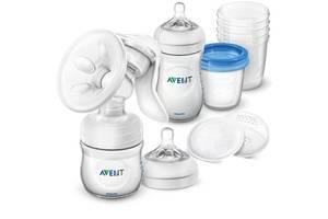 Молокоотсос Philips Avent Natural ручной с набором для хранения (SCD221/00)