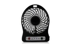 Мини вентилятор mini fan Kronos XSFS-01 с аккумулятором 18650 Black (gr_007196)