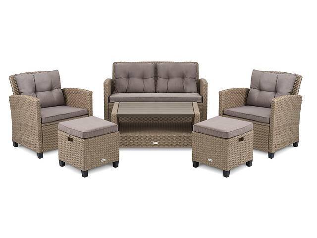 продам Набор для отдыха Firenze - бежевый диван, кресла, пуфики, столик бу в Львове