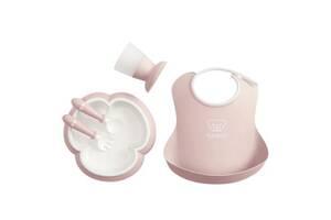 Набор детской посуды Baby Bjorn Baby Dinner Set Powder Pink (70064)
