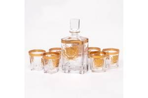 Набір для віскі Butterfly Передмові 970004 (графин 0,8 л. і 6 склянок 0,3 л) золотистий