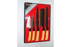 Набор ножей для кухни с подставкой YING GUNS Голд Сан кухонные ножи и подставки